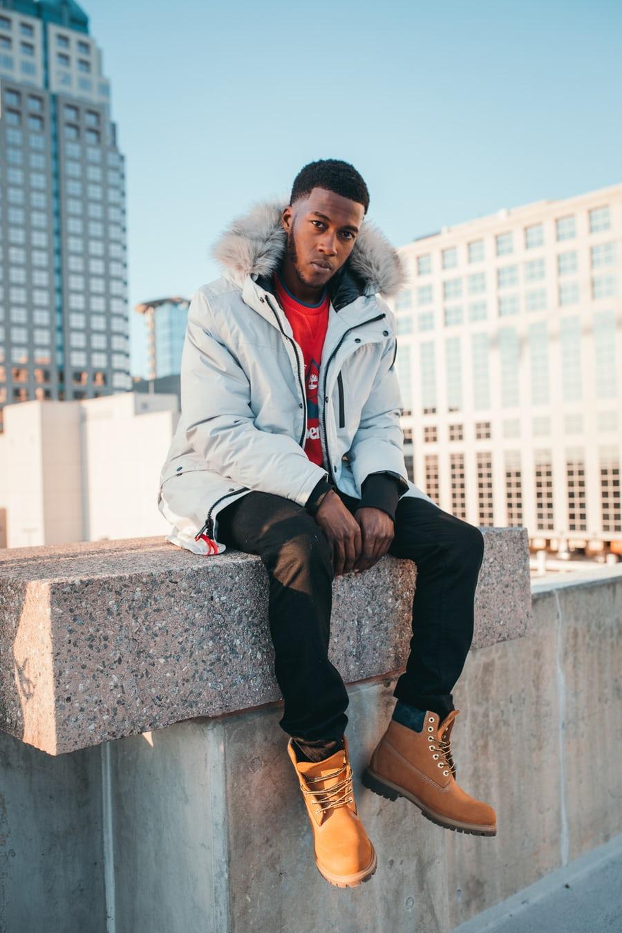 black man in white jacket, Incarceration Trauma